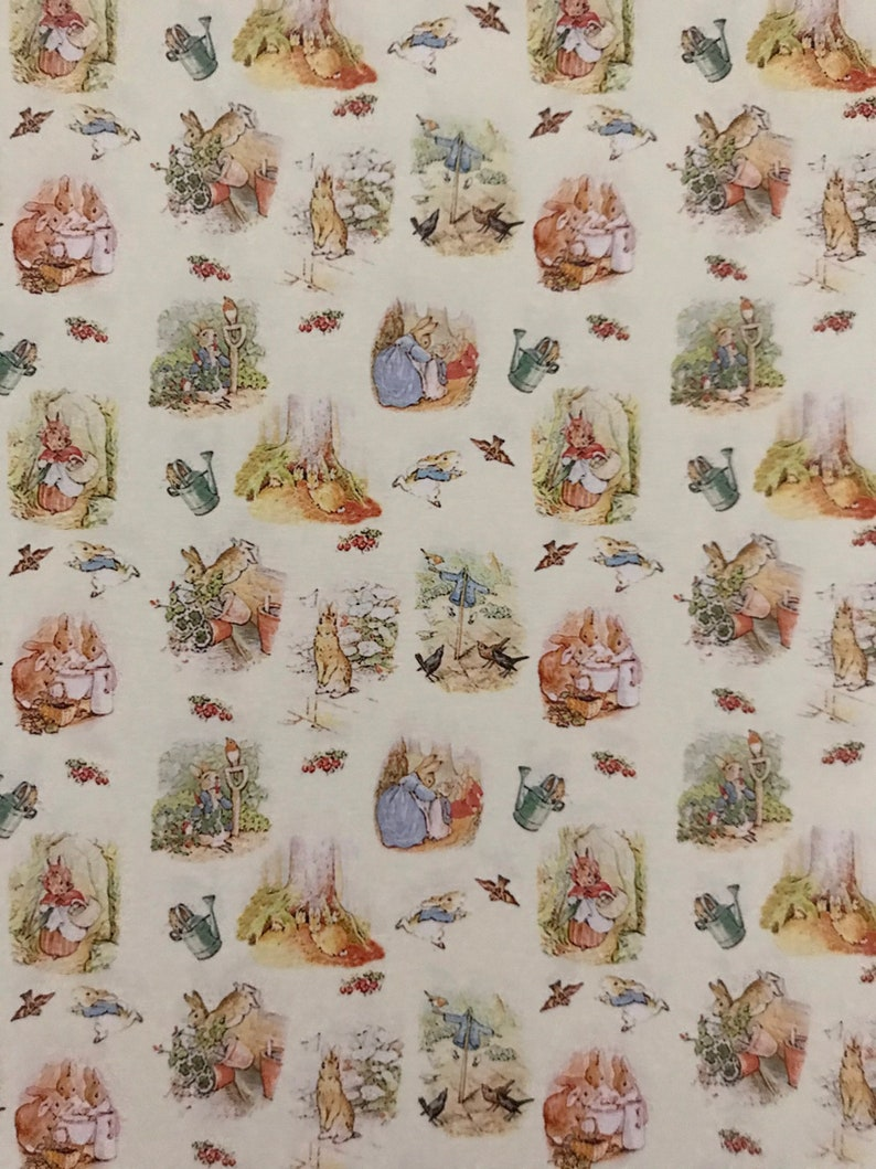 Dollhouse Miniature Wallpaper Peter Rabbit Scale One Inch image 0