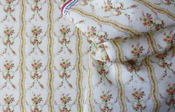 Dollhouse Miniature Fabric, Melanie, Scale One Inch