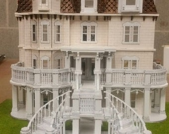 1:48 The Phillips' Estate Wooden Dollhouse KIT,  Quarter Inch Scale