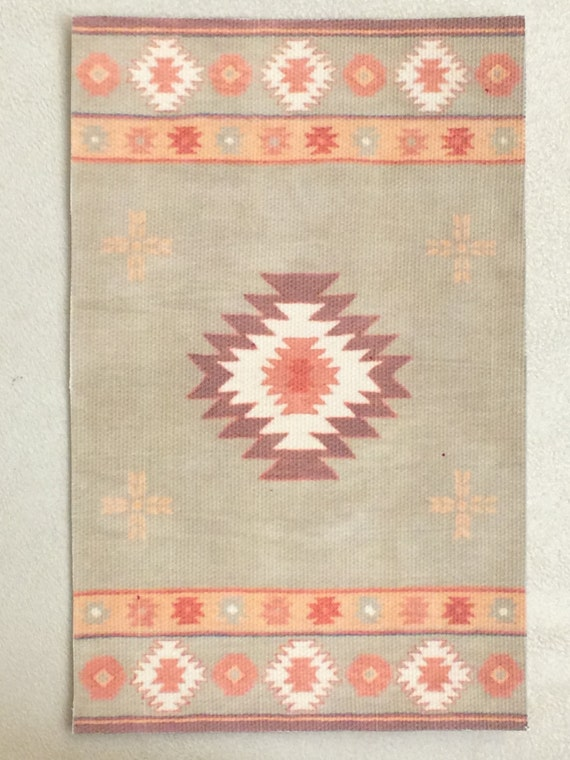 "Dollhouse Miniature Room size ""RL"" Navajo Rug, Scale One Inch, Treasury Listed"