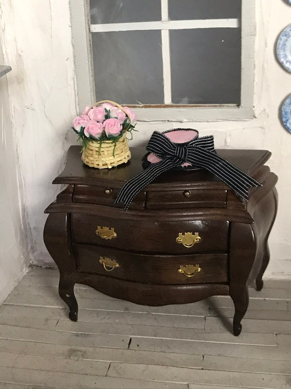Dollhouse Miniature Handmade Edwardian Hat, Marion Paroo, Scale 1:12