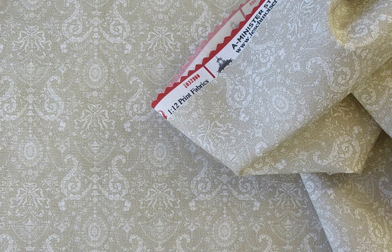 Dollhouse Miniature Matching Fabric, Anna, Scale One Inch