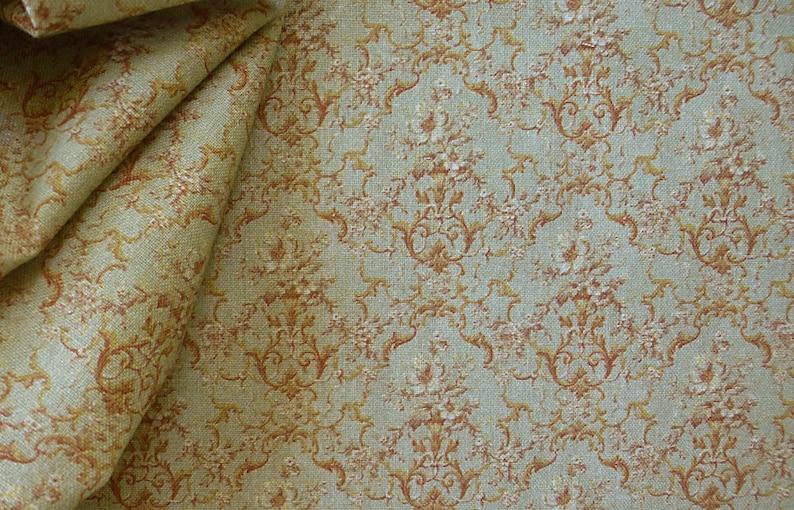 Dollhouse Miniature Matching Fabric Chardonnay 1:12 Scale image 0