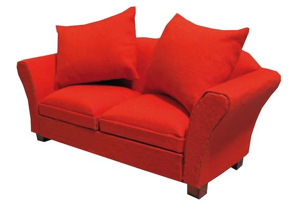 Dollhouse Miniature Furniture, Modern Classic Sofa, Rosie, 1:12 scale