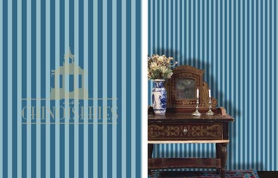 1:12 Dollhouse Miniature Wallpaper, Trending Blue, Scale One Inch