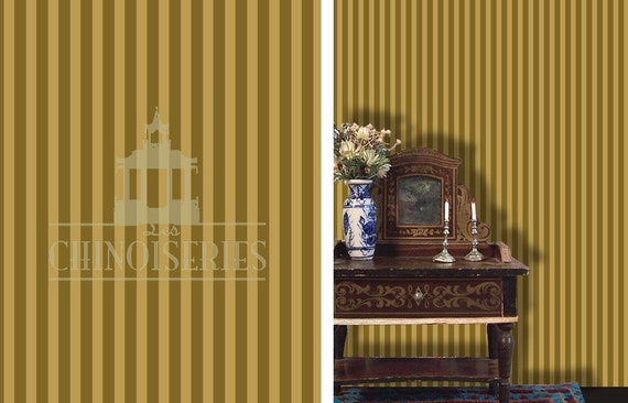 1:12 Dollhouse Miniature Wallpaper, Trending Olive, Scale One Inch