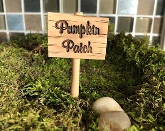 Fairy garden Miniature pumpkin patch SIGN only