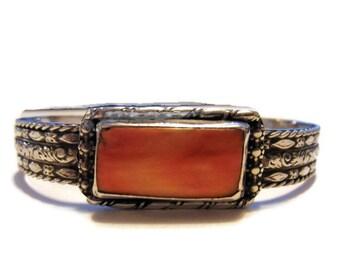 Vintage Navajo Sterling Spiny Oyster Cuff Bracelet Jason Begay