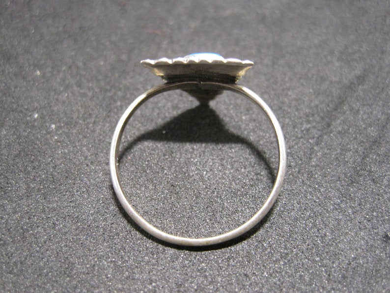 Vintage Southwestern Sterling Silver Turquoise Triangle Ring