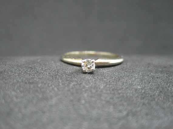 Vintage 14K Yellow Gold Ring with an Est .02 Ct Size 6. Diamond