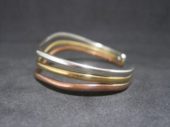 Copper Magnetic Bracelet Made in USA! Rainbow Wave