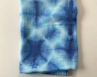 hand dyed cotton burp cloth  ice dye  tie dye  baby  unisex