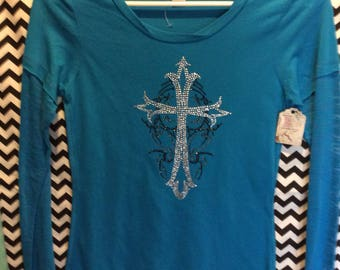 Blue cross top