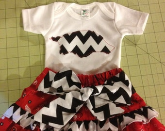 Arkansas Razorback Skirt Outfit