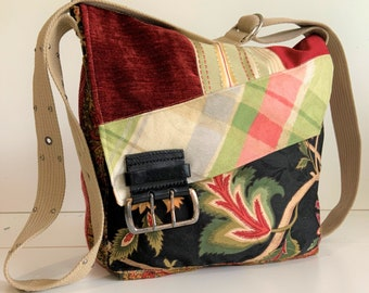 581f220a6 Canvas Bag, Recycled Bag, Canvas Tote Bag, Canvas Purse, Handmade Handbags,  Crossbody Bag, Boho Bag, One of a Kind Bags, Fabric Bags, Purses