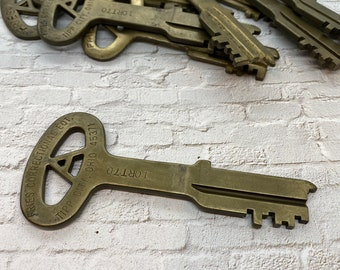 Lot Of 4 Folger Adam Prison or Jail Blank Uncut Brass Key