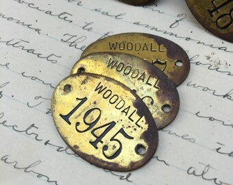 20 Pcs Vintage Heart Tags Authentic Dark Finish Distressed Brass Charms 58 16 mm Antique Brass Stampings