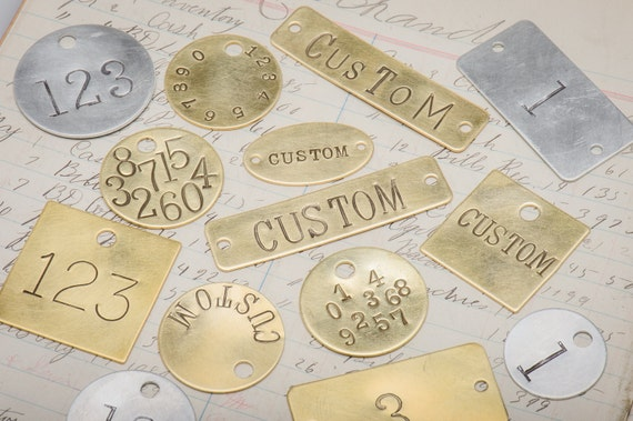 Custom Hand Punched Brass And Metal Tag Stamped Key