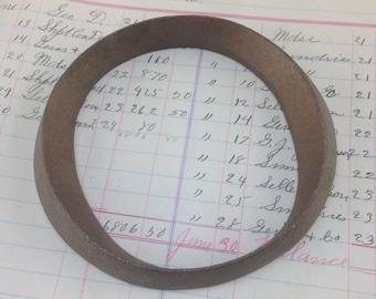 """Antique Brass signe lettre O - lettre du chapiteau métal Vintage - signe industriel lettre - antique lettre métal - cuivre ou en laiton couleur 4"""" de haut"""