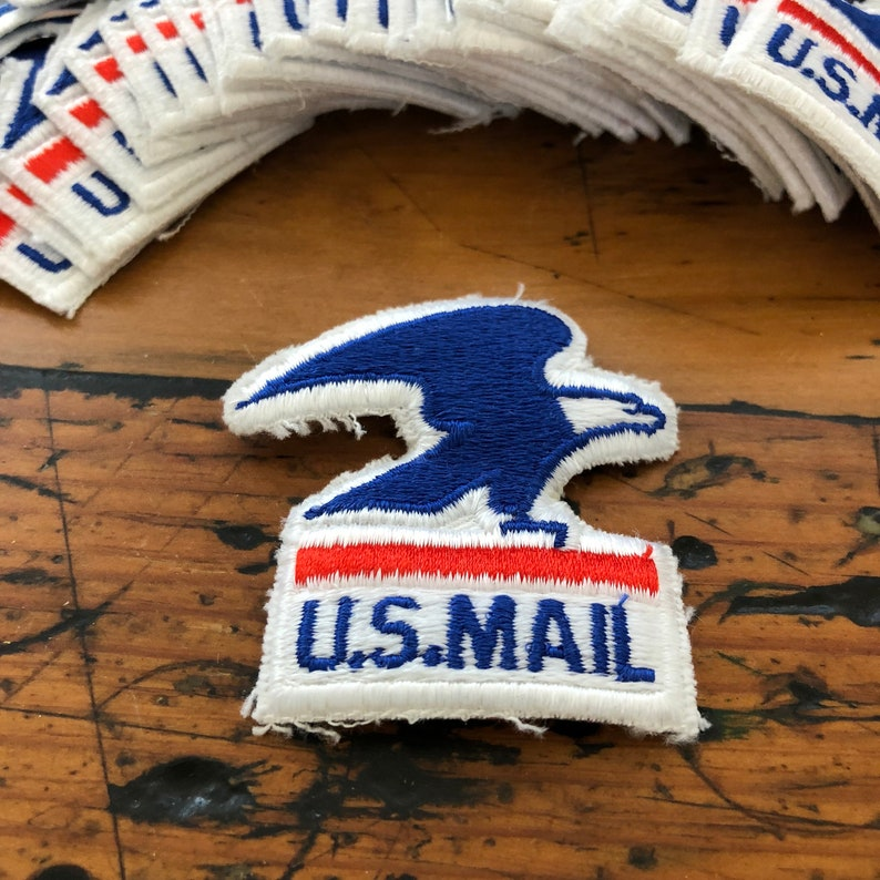 US Post Office Eagle Patch -New Old Stock -US Mail- USPS patch - mail patch  - sew on patch