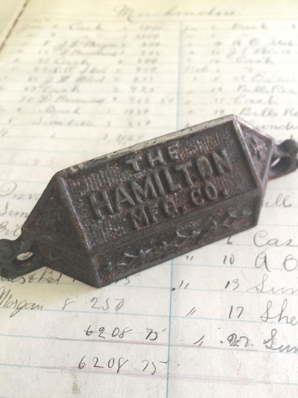 Hamilton Letterpress Printer Drawer Pull Hardware - ONE - metal ...