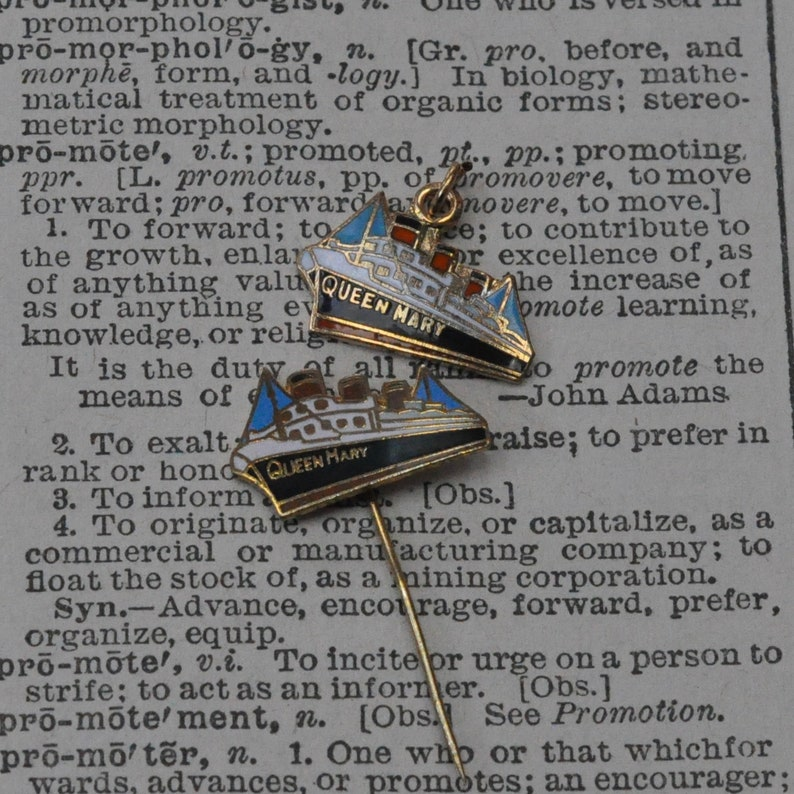 Queen Mary Ship Revers Anstecknadel Oder Charme Schiff Etsy