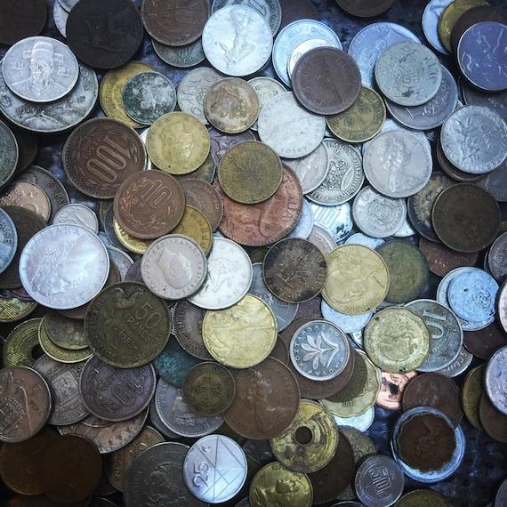 Ausländische Münze Gesetzt Vintage Münzen Und Token Von Etsy
