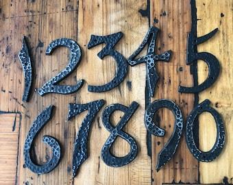 """Black Metal address number 3.5"""" -  vintage metal house number – New Old stock address number – vintage house numbers – sign numbers"""
