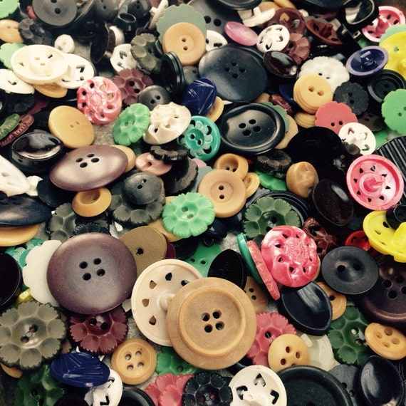 unique package  121 80 Antique and vintage plastic buttons