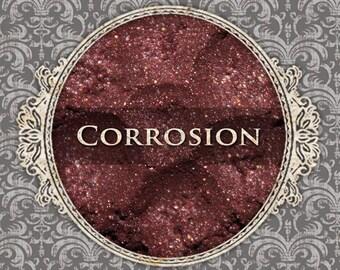 CORROSION Shimmer Eyeshadow: Samples or Jars, Deep Rust Red, Loose Powder Eyeshadow, VEGAN Cosmetics, Ships Out in 5-8 Days