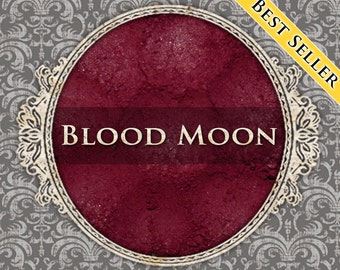 BLOOD MOON Matte Eye Shadow, Deep Burgundy Red, Blood Red, Loose Powder Eyeshadow, Cosmetic Pigment, Gothic Makeup, Ships Out in 5-8 Days