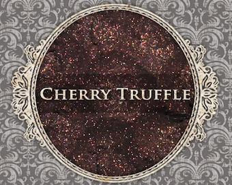 CHERRY TRUFFLE Shimmer Eyeshadow: Samples or Jars, Dark Rosey Brown, Loose Powder Eyeshadow, Vegan Cosmetics, Ships Out in 5-8 Days