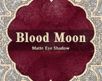 BLOOD MOON Matte Eye Shadow, Deep Burgundy Red, Blood Red, Loose Powder Eyeshadow, Cosmetic Pigment, Gothic Makeup, TAT 1-2 Weeks