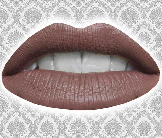 Ligeia Flussige Lippenstift Matt Lila Rose Braun Etsy