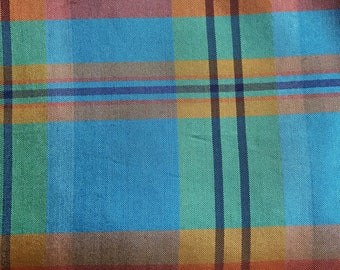 Silk taffeta plaid