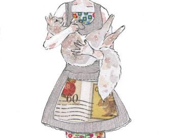 Cat in the Kitchen Art Print