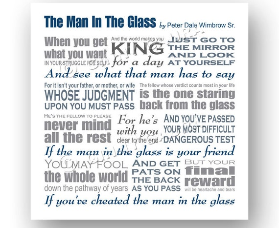 the man in the glass by dale wimbrow