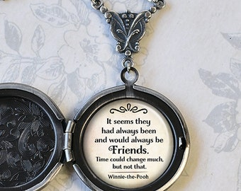 It seems they had always been and would always be Friends locket, gift for best friend friendship jewelry photo locket custom jewelry