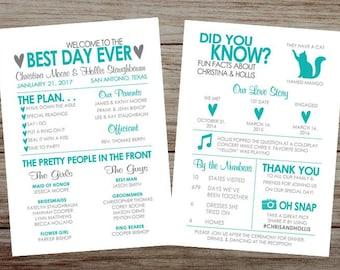 limited time sale infographic wedding program wedding etsy