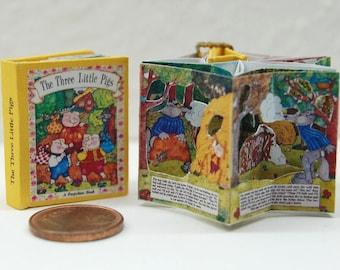 1/12 Three little pigs Miniature Carousel Pop-Up book
