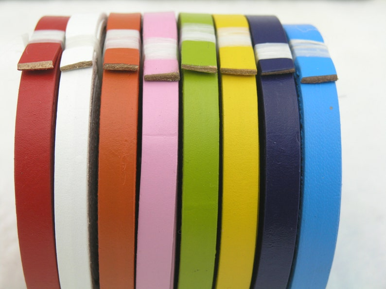 15 Colors-3 Meters 10.0x2.0mm Flat RealGenuine Jewelry Leather CordStrap