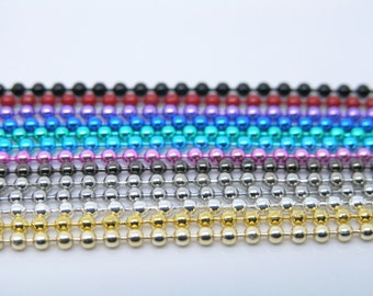 24'' Lot of 100PCS 2.4mm Bead Mix-Colors Ball Ball Chain Necklace Lead Free