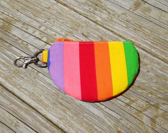 Mini Pouch, Earbud Pouch, Change Pouch, Rainbow Pouch, Striped Pouch, Rainbow Stripe Pouch