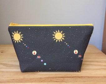 Medium Makeup Bag, Solar System, Solar System Makeup Bag, Space Makeup Bag, Planets Makeup Bag, Space Cosmetic Bag, Sugar City Collection