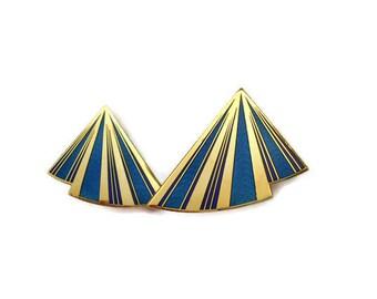 1980's Designer 'Nuri' Clip On Earrings