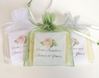 shabby chic rose soap favors for bridal wedding shower jack jill 100 natural cold processed