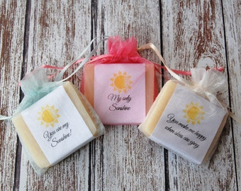 You are my Sunshine Theme Soap Favors Baby Shower