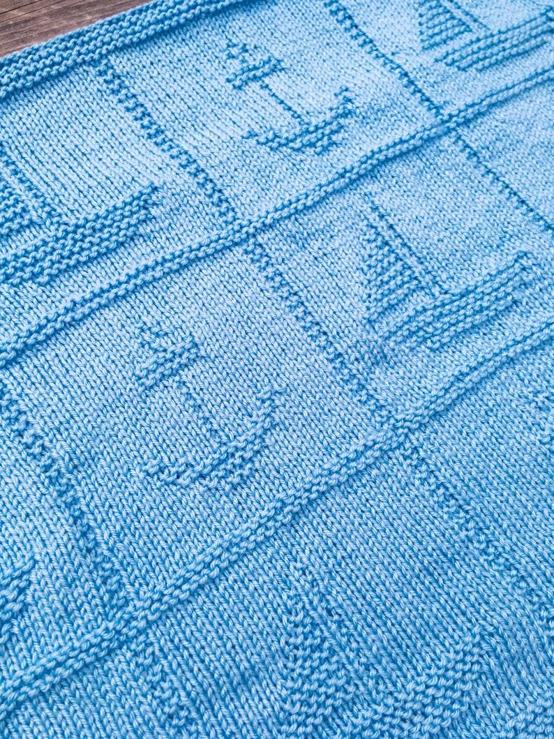 Knitting Pattern Nautical 2 Blanket PDF Instant Download ...