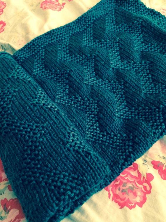 Zig Zag Baby Blanket Knitting Pattern Pdf Instant Download Etsy