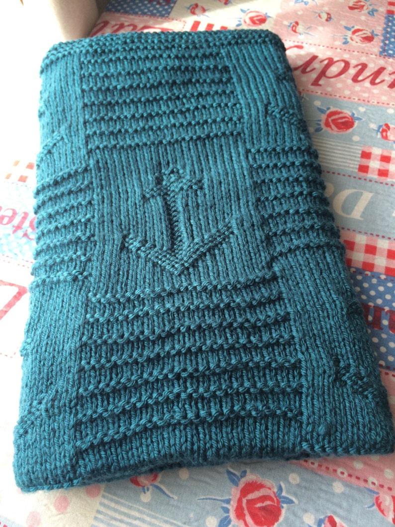Knitting Pattern Nautical Baby Blanket PDF Instant   Etsy